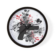 Black Floral Wall Clock
