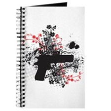 Black Floral Journal