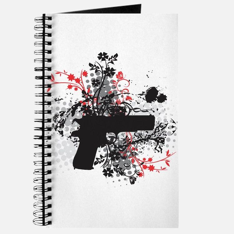 Black Floral Journal