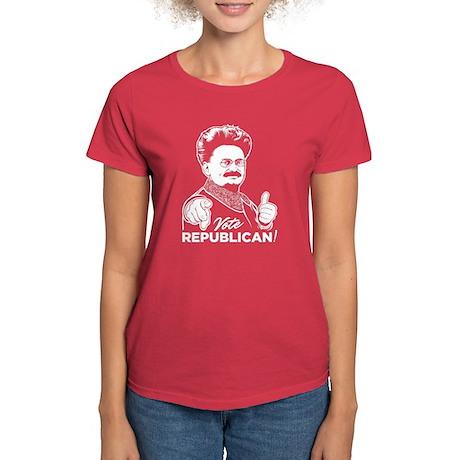 Trotsky Vote Republican Women's Dark T-Shirt