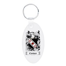 Conway Aluminum Oval Keychain