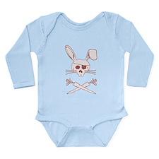 Pirate Bunny Long Sleeve Infant Bodysuit