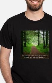 It's Little I Care What Path I Take Black T-Shirt