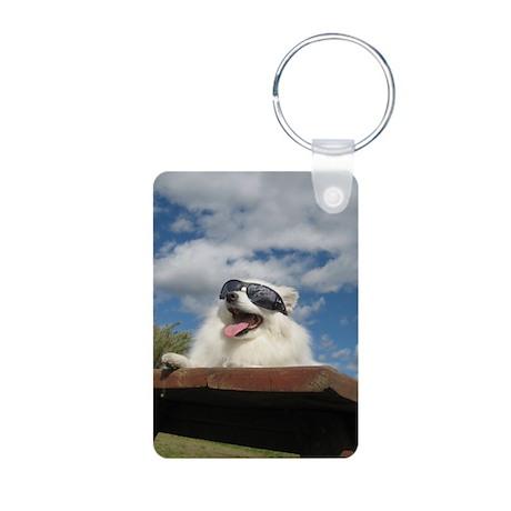 American Eskimo Dog Aluminum Photo Keychain