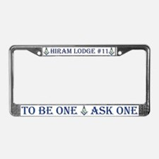 Cute Masonic lodge License Plate Frame