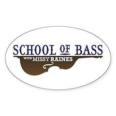 School of Bass Sticker (Oval)