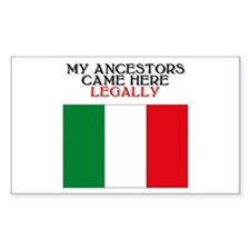 Italian Heritage Rectangle Bumper Stickers