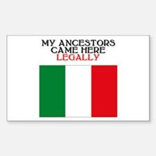 Italian Heritage Rectangle Decal
