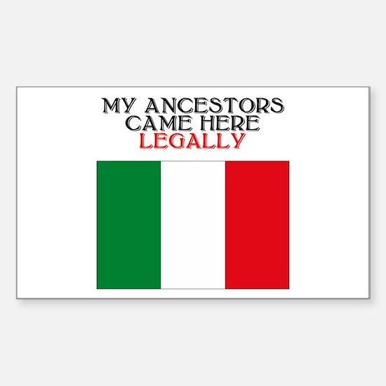 Italian Heritage Rectangle Decal