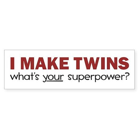 I MAKE TWINS Sticker (Bumper)