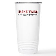 I MAKE TWINS Ceramic Travel Mug