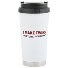 I MAKE TWINS Stainless Steel Travel Mug