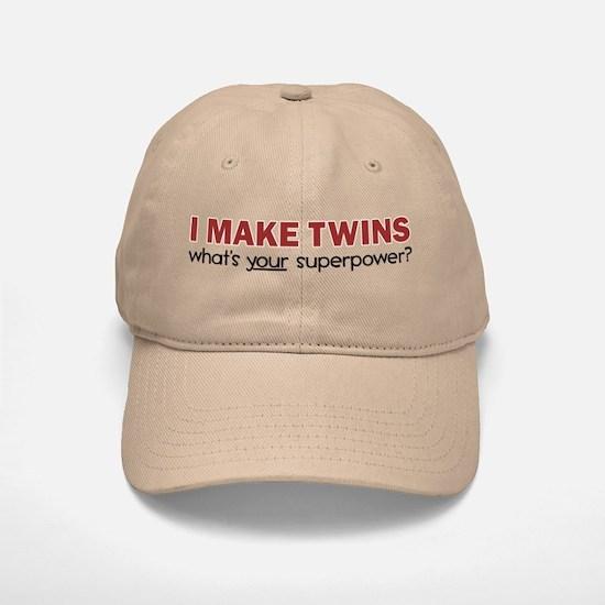 I MAKE TWINS Baseball Baseball Cap