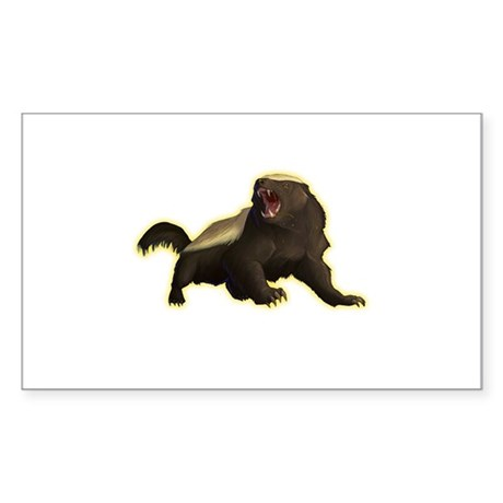 Honey Badger Sticker (Rectangle 50 pk)