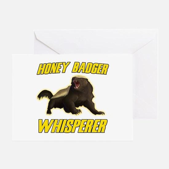 Honey Badger Whisperer Greeting Card