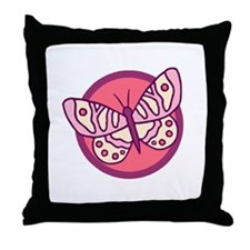 Pink Butterfly3 Throw Pillow