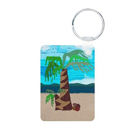 Palm Tree Aluminum Photo Keychain Keychains