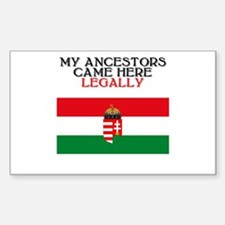 Hungarian Heritage Rectangle Bumper Stickers