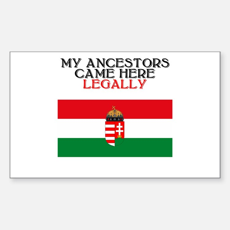 Hungarian Heritage Rectangle Decal