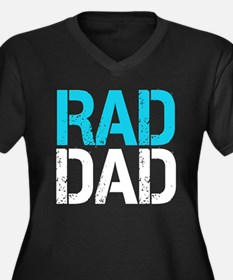 Rad Dad Women's Plus Size V-Neck Dark T-Shirt