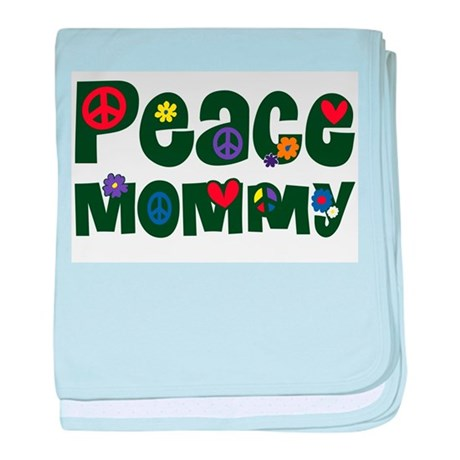 Peace Mommy baby blanket