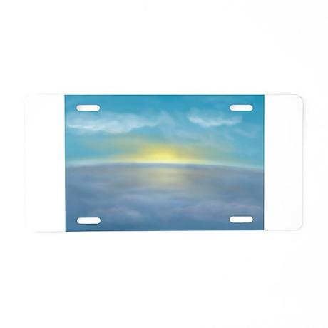 Ocean Sunrise Aluminum License Plate