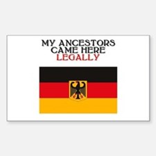 German Heritage Rectangle Decal