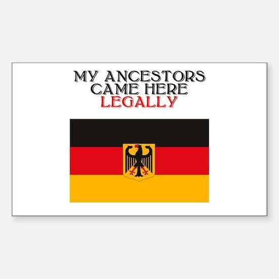 German Heritage Rectangle Decal