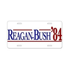 Reagan-Bush 84 Presidential E Aluminum License Pla