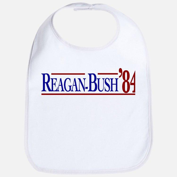 Reagan-Bush 84 Presidential E Bib