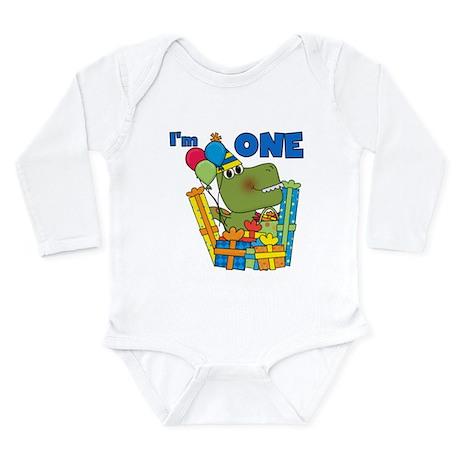 Little Dino 1st Birthday Long Sleeve Infant Bodysu