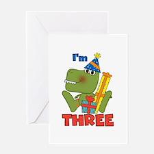 Little Dino 3rd Birthday Greeting Card