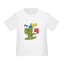 Little Dino 4th Birthday T