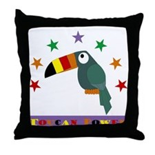 Toucan Power Throw Pillow