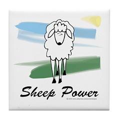 Sheep Power Tile Coaster