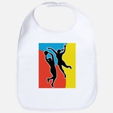 netball player jumping Bib
