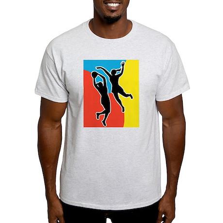 netball player jumping Light T-Shirt