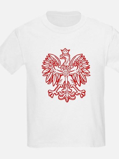 Polish Eagle Emblem Kids T-Shirt
