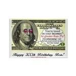Ben Franklin Taxes Rectangle Magnet (10 pack)