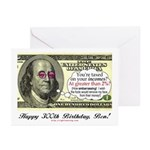 Ben Franklin Taxes Greeting Cards (Pk of 10)