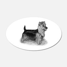 Australian Terrier 22x14 Oval Wall Peel