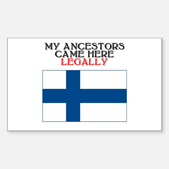 Finnish Heritage Rectangle Decal
