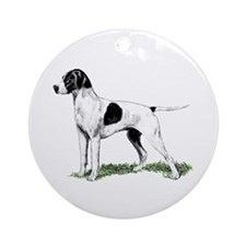 English Pointer Standing Ornament (Round)