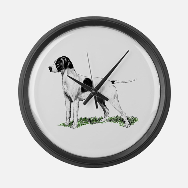 English Pointer Standing Large Wall Clock