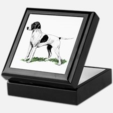 English Pointer Standing Keepsake Box