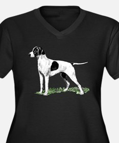 English Pointer Standing Women's Plus Size V-Neck
