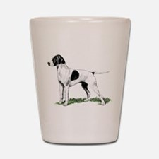 English Pointer Standing Shot Glass