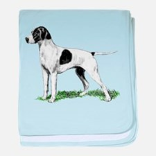 English Pointer Standing baby blanket