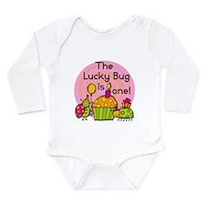 Cupcake Ladybug 1st Birthday Long Sleeve Infant Bo