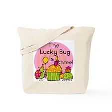 Cupcake Ladybug 3rd Birthday Tote Bag